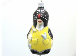 Christmas decoration Mole yellow panties www.sklenenevyrobky.cz