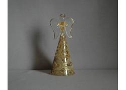 Glass angel gold decor www.sklenenevyrobky.cz