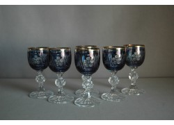 Aperitif glass, 6 pcs, in blue www.sklenenevyrobky.cz