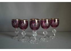 Aperitif glasses, 6 pcs, in purple color www.sklenenevyrobky.cz