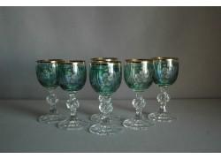 Aperitif glass, 6 pcs, in green www.sklenenevyrobky.cz