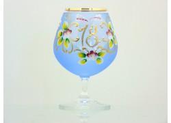 Jubilee Glass Carmen 18 years blue www.sklenenevyrobky.cz