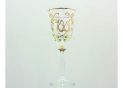 Jubilee wine glass Angela 100 years www.sklenenevyrobky.cz