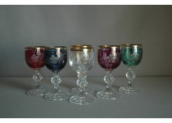 Glass of Claudia on aperitif, 6 pcs, 6 colors www.sklenenevyrobky.cz