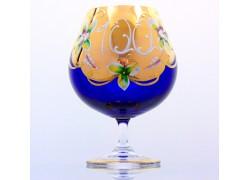 Jubilee Glass Natalie for cognac 100 years blue www.sklenenevyrobky.cz