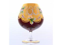 Jubilee Glass Natalie for cognac 100 years ruby www.sklenenevyrobky.cz