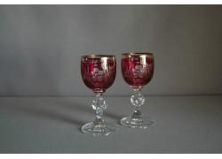 Glass of Claudia on aperitif - 2pcs, red www.sklenenevyrobky.cz