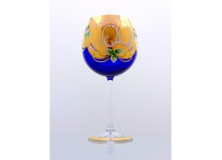 Jubilee Glass Natalie II. 100 years 570 ml blue www.sklenenevyrobky.cz