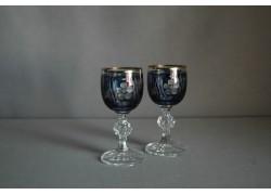 Sklenice Claudia na aperitiv - 2ks, modré www.sklenenevyrobky.cz