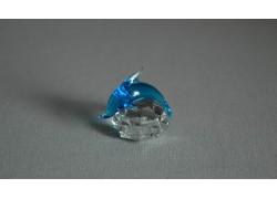 Delfín mini akvamarín 3x3,5x4 cm