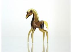 Brown horse from glass www.sklenenevyrobky.cz