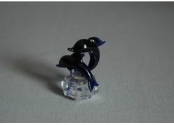 Delfín duo mini cobalt 3x4,5x4 cm