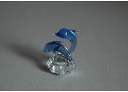 Delfín duo mini vodní modř 3x4,5x4 cm