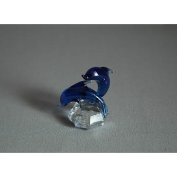 Delfín duo mini modrá 3x4,5x4 cm