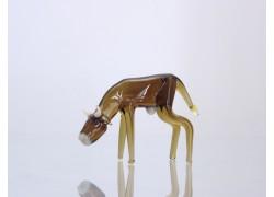 Krava zo skla 7x2x4 cm www.sklenenevyrobky.cz