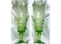 Glass Flute C42 200ml / 220mm forest glass