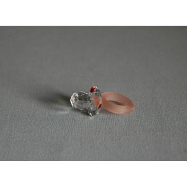Dudlík 0101 srdíčko,červený mat 2,5x2,5x4,5 cm