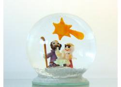 Sněžící koule Betlém 90mm Josef Marie Jesus