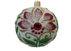 Vánoční koule 100mm decor Flora