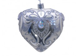 s Christmas Ornament Heart decorated from glass 10cm