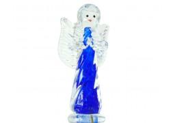 Anděl modrý 12,5x6x4 cm www.sklenenevyrobky.cz