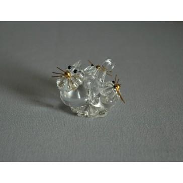 Kočka trio 906 crystal 5x3x4 cm