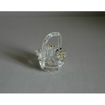 Košík s koťaty 905 crystal 4,5x6x4,5 cm