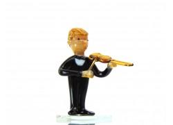 Houslista hudební orchestr postava 75x45x45 mm