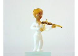 Figurine - musician playing violin www.sklenenevyrobky.cz