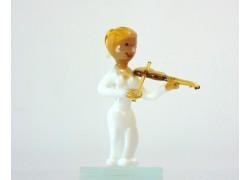 Figurka - hudebník hrající na housle