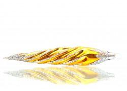 Vánoční ozdoba rampouch 14x3cm zlatě stříbrný