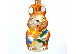 Easter bunny Blue jacket 4005 www.sklenenevyrobky.cz