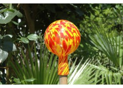 Fence ball made of blown glass 12cm III.