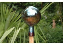 Plotová koule z hutního skla 12cm XIV.