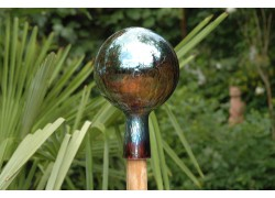 Zaunball aus Glas
