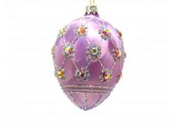 Faberge egg, purple ice decor - 2001 www.sklenenevyrobky.cz