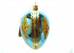 Faberge eggs, blue-gold decor - 8027 www.sklenenevyrobky.cz