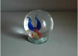 Snowing balls with scorpion figurine www.sklenenevyrobky.cz