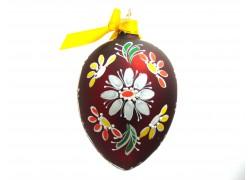 Velikonoční vejce 5005 červené s kvítkovým věnečkem