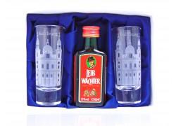 Leib Wächter 0,04l Salzburg set with two glasses