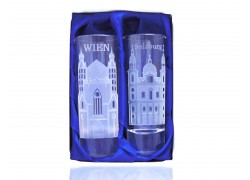 Giftbox Viena and Salzburg with two glasses