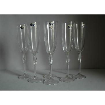 Sklenice na šampaňské Fleur 220ml set 6 ks