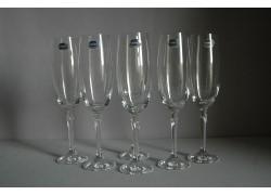 Sklenice na šampaňské Brigitta 190ml set 6 ks