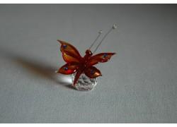 Motýl 952 červený 5,5x3,5x7,5 cm