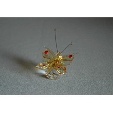 Motýl 952 žlutý 5,5x3,5x7,5 cm