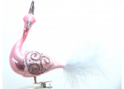 Christmas decoration Swan 392 pink porcelain
