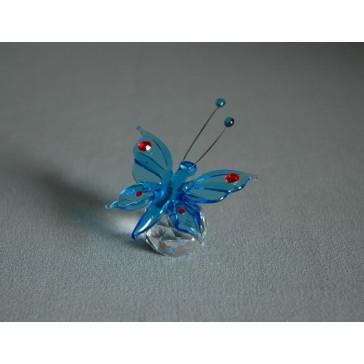 Motýl 952 akvamarín 5,5x3,5x7,5 cm