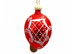 Easter egg small painted with wood pin red 5005