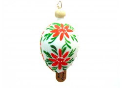 Easter egg small 1002 painted with wood pin spring flowers