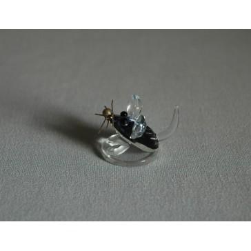 Myš mini 752 modrá 2,5x2x3 cm